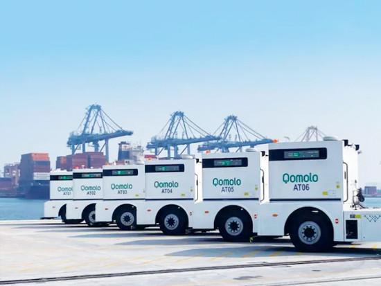 6辆Q-Truck同时运营,西井打造全球首个无人驾驶与人工集卡混行码头