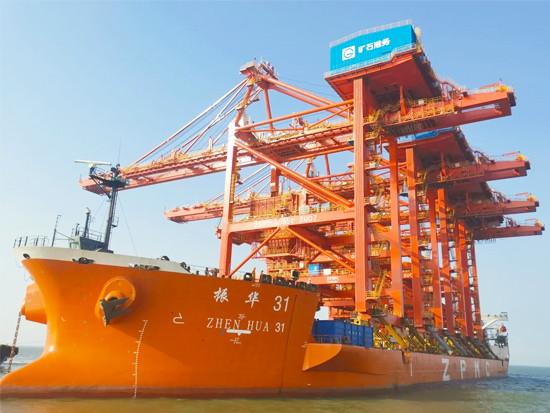 助力黄骅港高质量发展,4台卸船机完成卸船