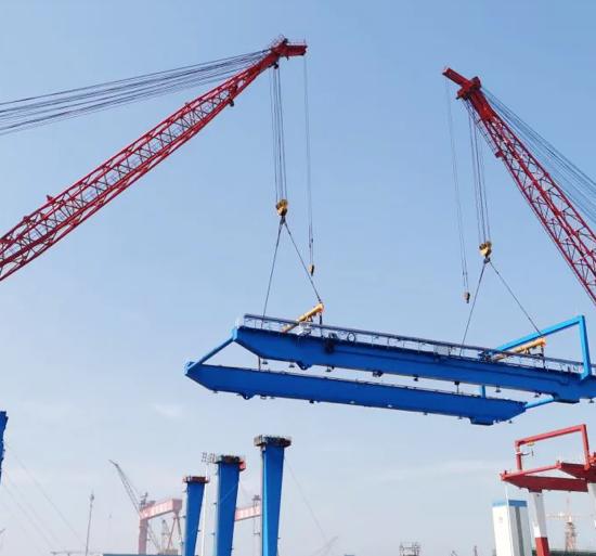 舟山甬舟18臺自動化軌道吊全面進入總裝階段︱港口裝卸機械