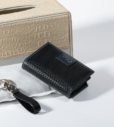 进口宝石纹名片包钥匙扣套装