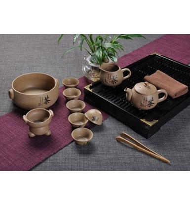 汉纹釉瓷器功夫茶具套装