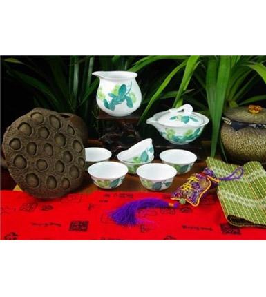 釉下五彩瓷器普洱茶具