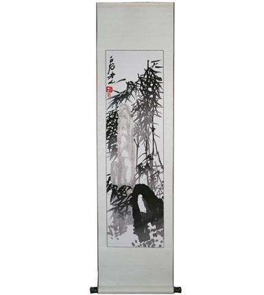 湘绣竖轴----竹子