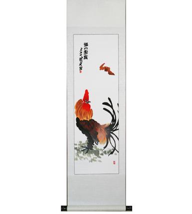 湘绣竖轴----大公鸡