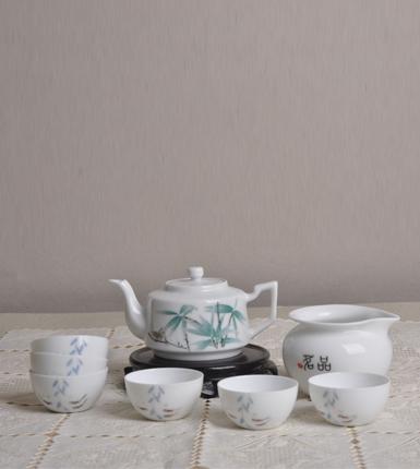 君子之交五彩瓷器功夫茶具