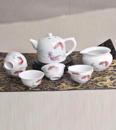 金玉满堂五彩瓷器茶具