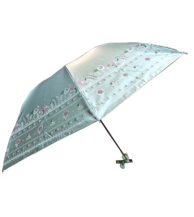 天堂伞 流光溢彩绸三折晴雨伞