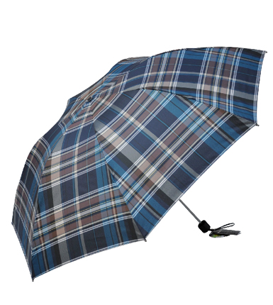 天堂伞 拒水线染色织格三折超细铅笔伞