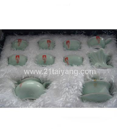 青瓷器茶具