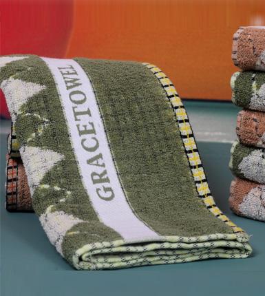 洁丽雅两条装礼盒纯棉强吸水舒适面巾