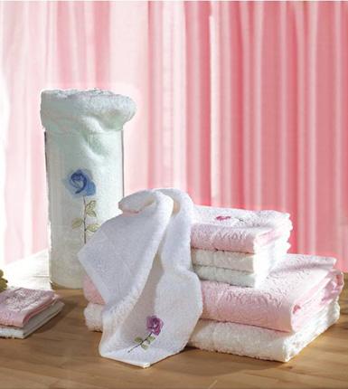 孚日洁玉--一见倾心玫瑰花系列三套巾