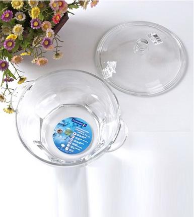 乐美雅--花岗岩全钢化双耳玻璃碗(带盖)