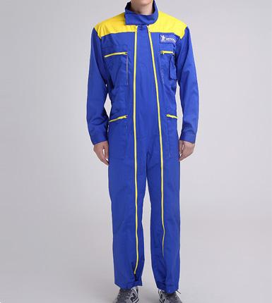 男式蓝色连体工作服