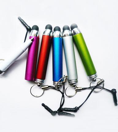 防尘塞挂绳电容圆珠笔三合一笔