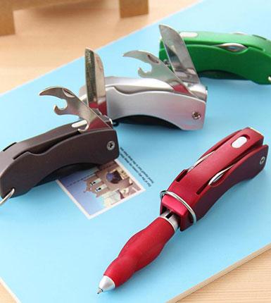创意折叠灯笔 瑞士军刀圆珠笔