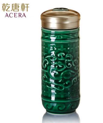 乾唐轩活瓷 大势在必得随身杯双层 陶瓷水杯子办公商务定制礼品物