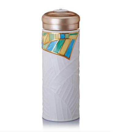 乾唐轩活瓷 吉星金枝玉叶随身杯 创意陶瓷水杯子带盖防漏泡茶