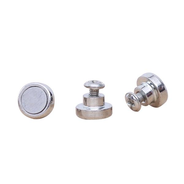 LED灯具磁铁,吸顶灯小磁铁,螺丝孔圆形磁铁,白色磁钢
