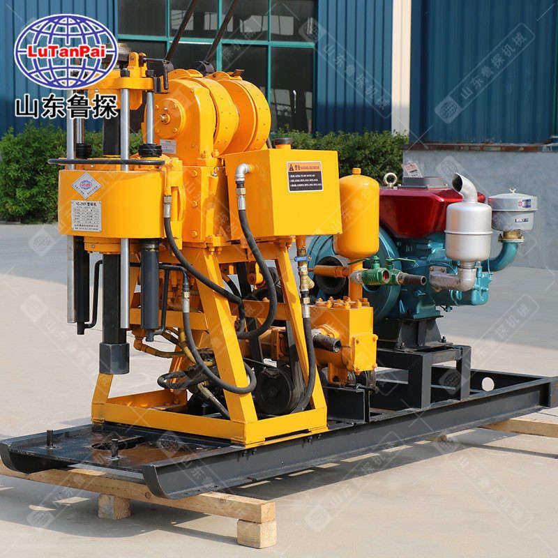 山东鲁探全自动液压钻井机HZ-200Y深水井200米钻机设备