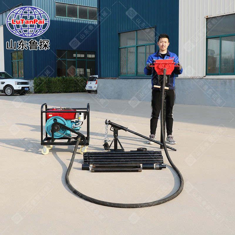鲁探供应QTZ-4柴动便携式钻机 取土完整式钻机 取样不掉渣式钻机