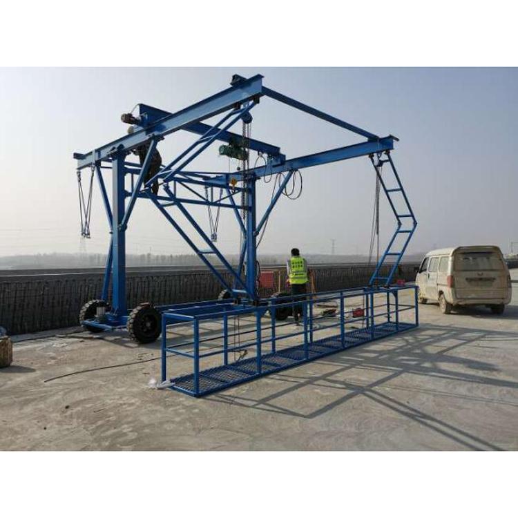 桥梁护栏台车 模板安装 2吨的台车
