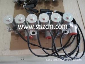 小松配件PC200-7挖掘机回转电磁阀总成 山特松正专业小松配件服务