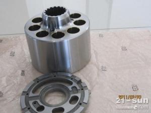 现代R455挖掘机液压泵,挖掘机泵胆,配流盘,液压零配件
