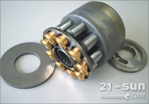 日立ZX240液压泵配流盘,柱塞,摇摆,后轴,进口川崎液压泵配件
