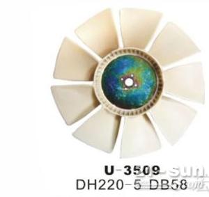 现代R200挖掘机发动机风扇叶