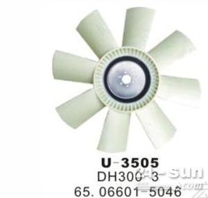 神钢SK200-6挖掘机发动机风扇叶