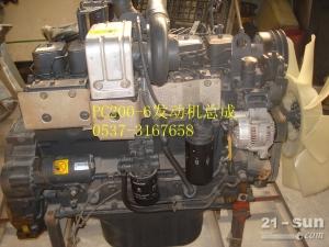 小松挖掘机PC200-6发动机.
