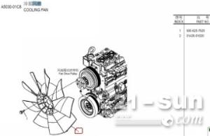 小松挖掘机配件:小松PC200-7风扇叶