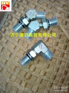 小松配件液压泵分配阀弯头:PC200-8液压泵分配阀弯头