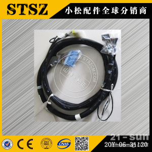 小松挖掘机配件供应PC220-7显示屏线束20Y-06-31...
