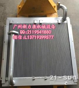 现代R225LC-7挖掘机康明斯B5.9-C水箱散热器 水泵