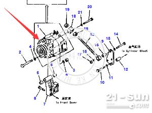 小松装载机   发电机  600-821-9680