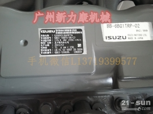 神钢SK75-8挖掘机五十铃4LE2发动机汽缸床