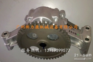 神钢SK75-8挖掘机五十铃4LE2发动机机油泵