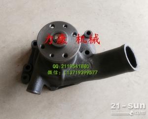 神钢SK75-8挖掘机五十铃4LE2发动机水泵