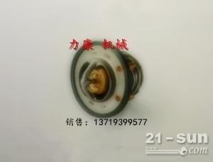 神钢SK75-8挖掘机五十铃4LE2发动机散热器风扇 节温器