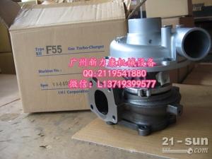 神钢SK75-8挖掘机五十铃4LE2发动机增压器