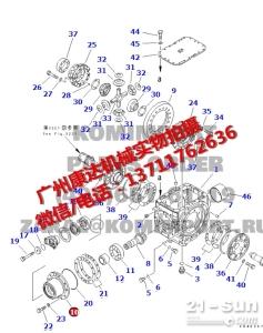 小松WA350-3轴承座423-23-21130