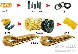 供应进口推土机D6H链条、链轨、驱动齿、支重轮、引导轮、拖带轮