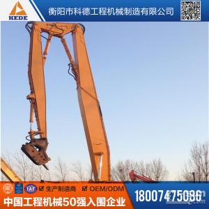 厦工XG836EL挖掘机三段式加长臂改装拆楼机拆楼臂