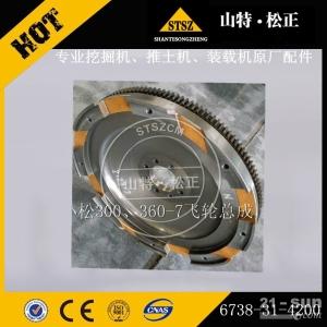 淮安供应小松WA380-6装载机SAA6D107发动机原厂飞轮齿圈配件6741-31-4200