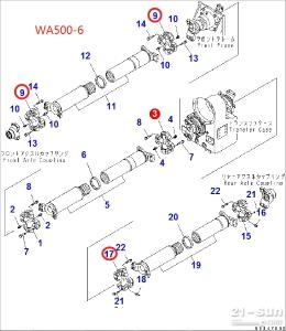 小松装载机  WA500-6  十字轴  425-20-32610