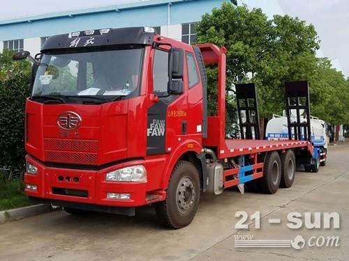 25吨挖机平板拖车 装载运输车
