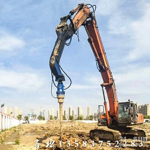 小挖改装钻孔机 挖掘机改装打桩钻孔机 挖机改装螺旋钻机