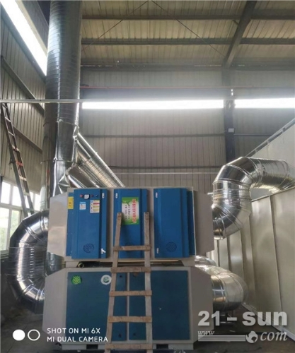 广东环保uv光氧催化设备移动伸缩房汽车烤漆房设备伟航制造