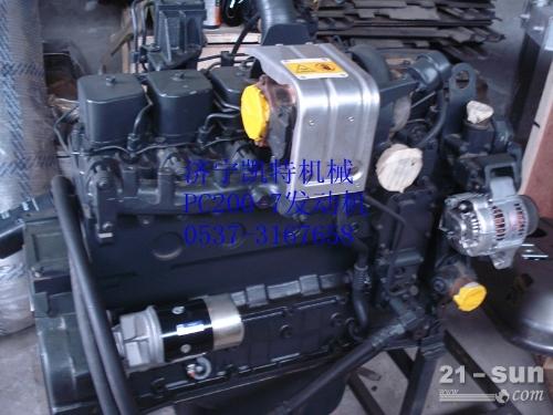 挖掘机全车配件 小松PC200-7发动机总成